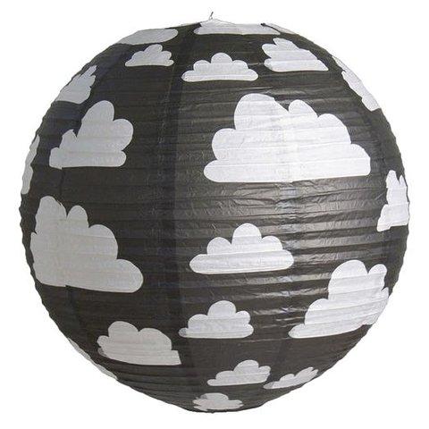 Farg en Form kinderlamp wolken zwart