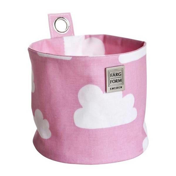 Farg & Form Zweden Farg en Form ophangmandje wolken roze klein