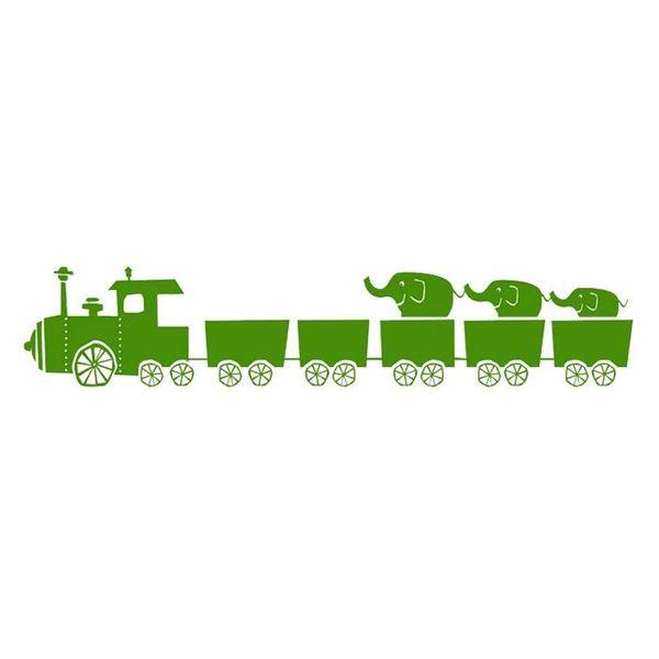 Ferm Living Kids Ferm Living muursticker trein groen