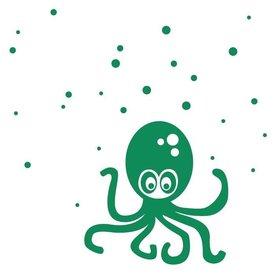 Ferm Living Kids Ferm Living muursticker octopus groen