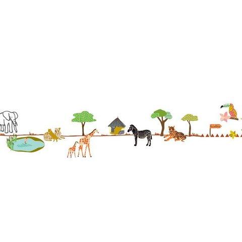 Mimilou muursticker dierentuin ballade au zoo