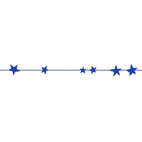 Mimilou muursticker sterren frise blauw