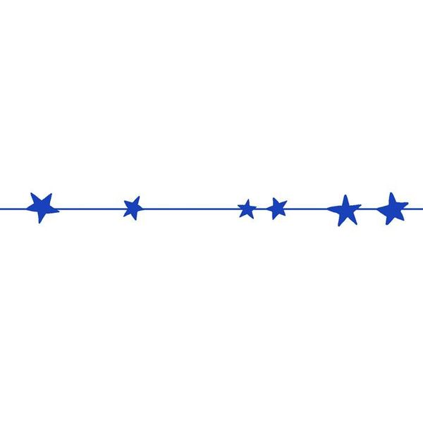 Mimi'lou Mimilou muursticker sterren frise blauw