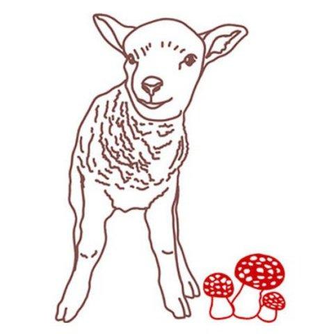 Mimilou muursticker lam