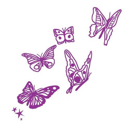 Mimi'lou muursticker vlinders paars