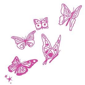 Mimi'lou Mimi'lou muursticker vlinders fuchsia