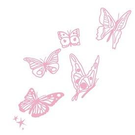 Mimi'lou Mimi'lou muursticker vlinders roze