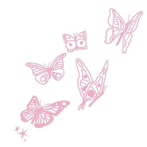Mimi'lou muursticker vlinders roze