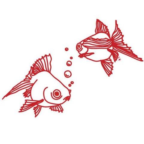 Mimi'lou muursticker vissen