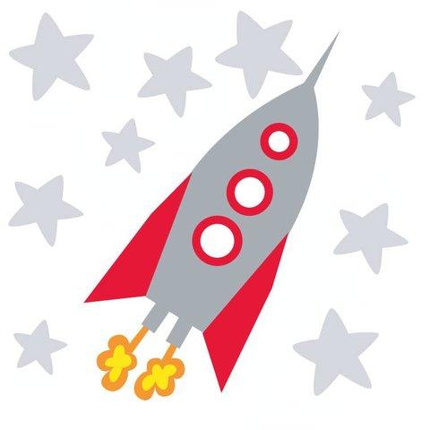 Forwalls muursticker raket met sterren