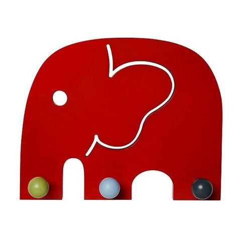 Franck and Fischer kinderkapstok  olifant Oscar rood