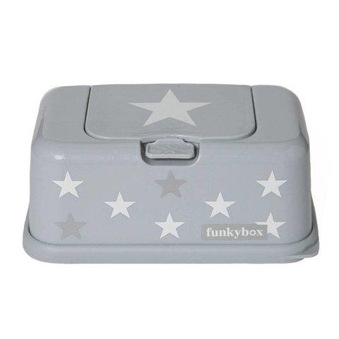 Funkybox billendoekjes bewaardoos grijs met ster