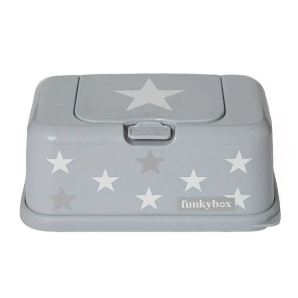 funkybox Funkybox billendoekjes bewaardoos grijs met ster