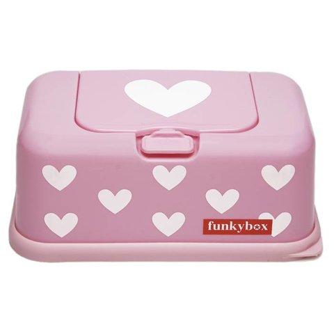 Funkybox billendoekjes bewaardoos roze hartjes