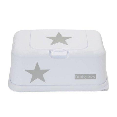 Funkybox billendoekjes bewaardoos wit met ster