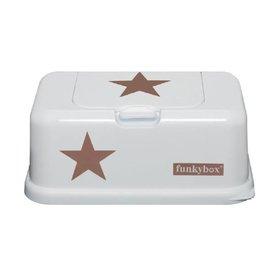funkybox Funkybox billendoekjes bewaardoos wit met koperen  ster
