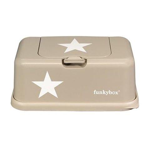 Funkybox billendoekjes bewaardoos beige met ster