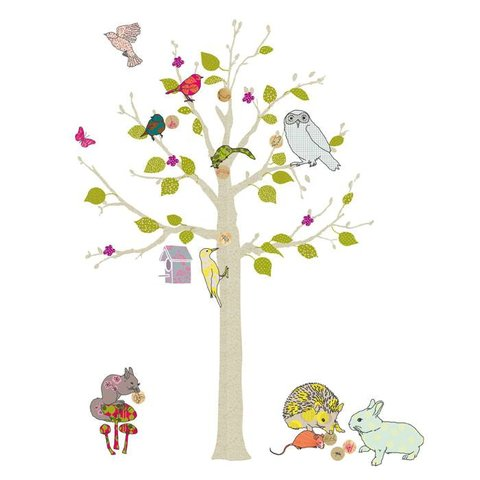 Mimilou muursticker boom arbre enchantee