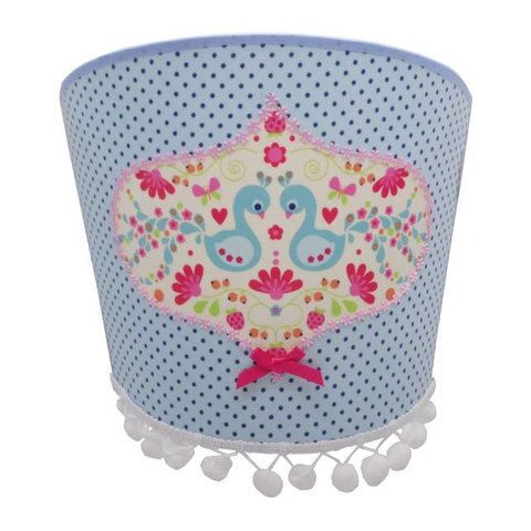 Juul Design wandlamp vogels pauw blauw