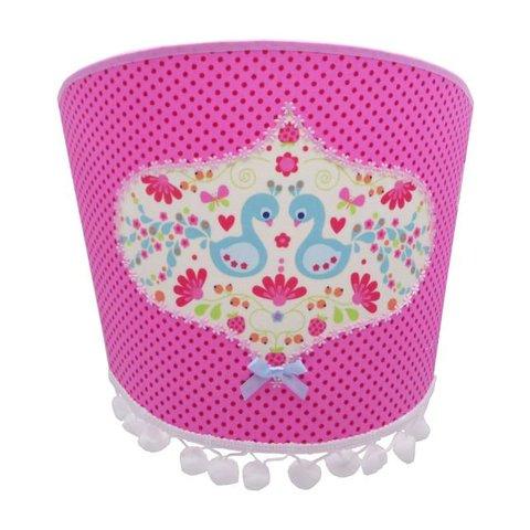Juul Design wandlamp vogels pauw roze