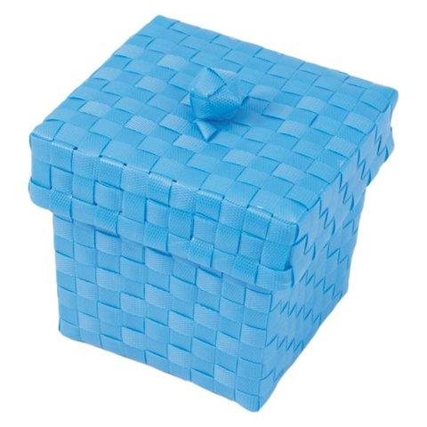Handed By opbergmandje Ascoli met deksel blauw