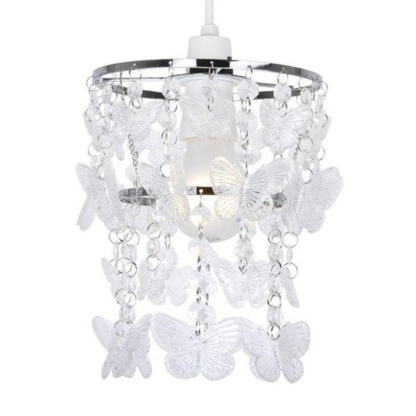 Kinderlamp vlinders transparant