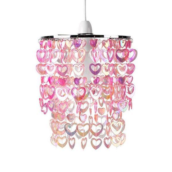 Kinderlamp hartjes roze