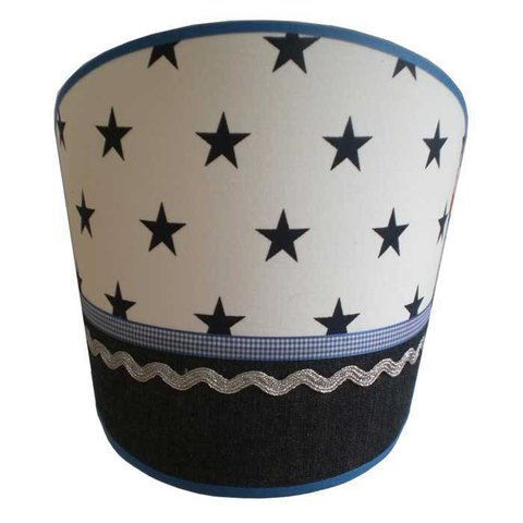 Juul Design wandlamp stars and stripes blauw