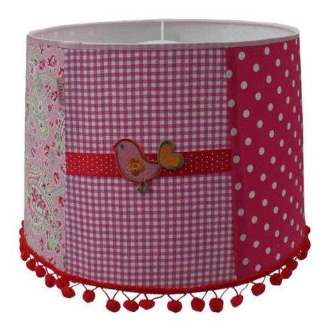 Juul Design kinderlamp vogel patchwork pink bird