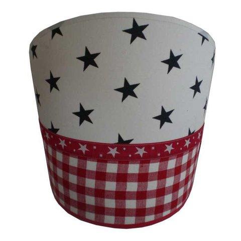 Juul Design wandlamp stars and stripes rood