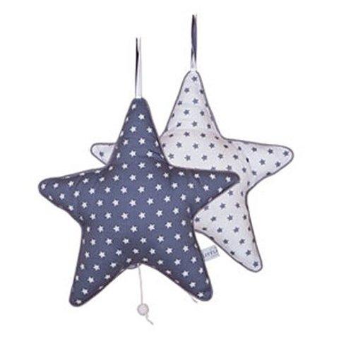 Little Dutch muziekdoosje ster met grijs sterrenmotief