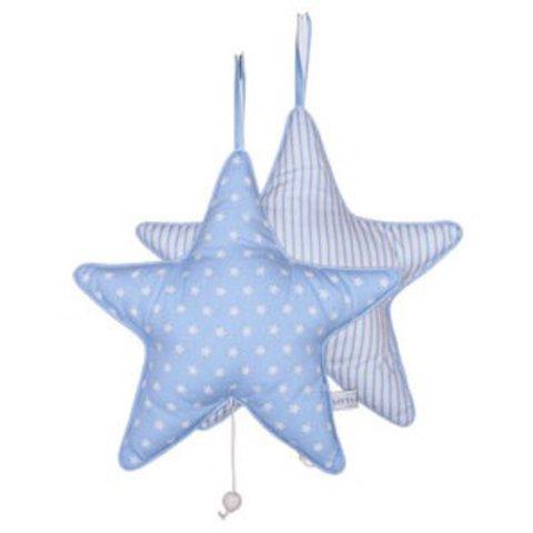 Little Dutch muziekdoosje ster lichtblauw ster en lichtblauwe streep