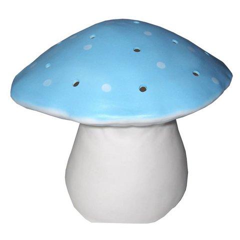Figuurlamp vliegenzwam lichtblauw
