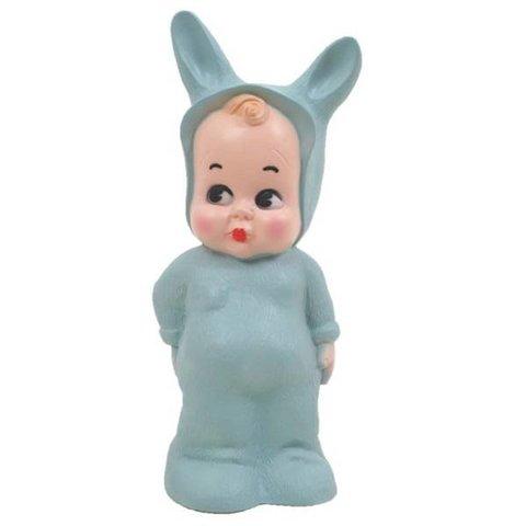 Kinderlamp konijn Lapin & Me blauw groen