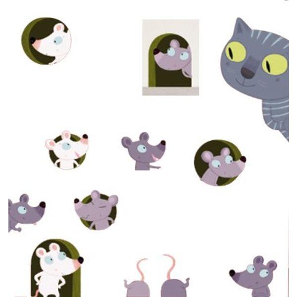 Nouvelles Images Nouvelles Images muursticker poes en muis