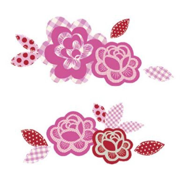 Nouvelles Images Nouvelles Images muursticker bloemen vichy