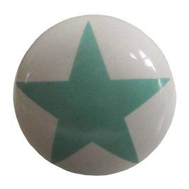 La Finesse La Finesse kastknopje wit met lichtgroene  ster