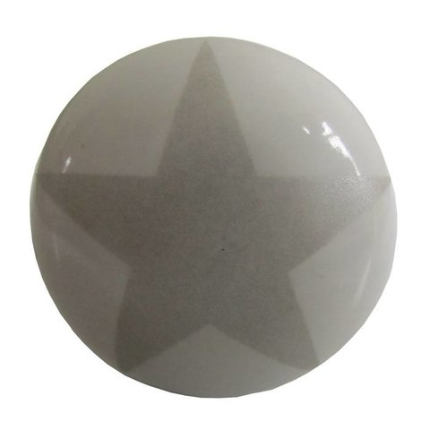 La Finesse kastknopje wit met grijze ster