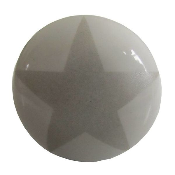 La Finesse La Finesse kastknopje wit met grijze ster