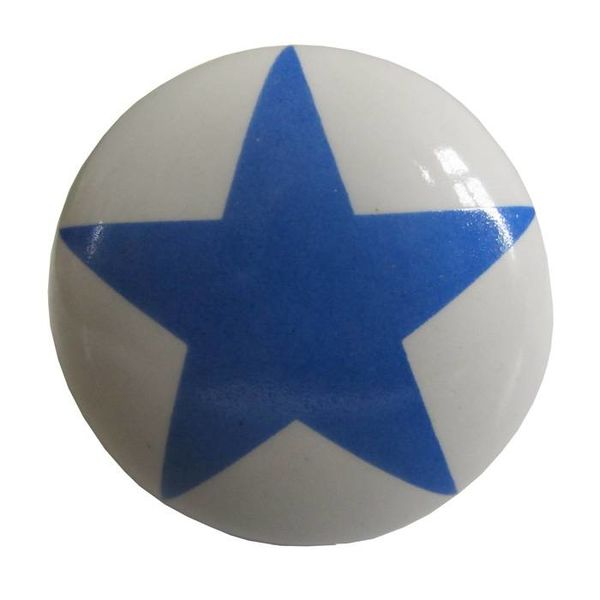 La Finesse La Finesse kastknopje wit met blauwe ster