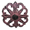 Deurknop bloem metaal antiek roze