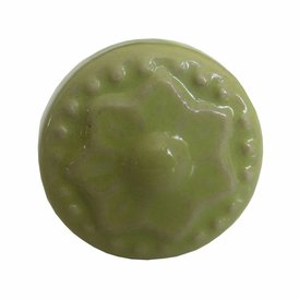 Harvey's Home Deurknop porselein ster groen mini