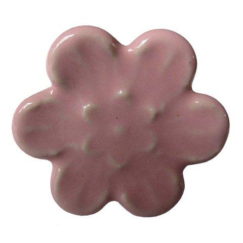 Deurknop relief bloem roze
