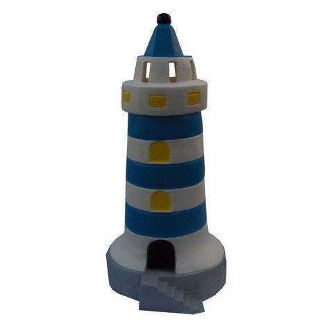 Figuurlamp vuurtoren blauw
