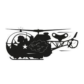 KEK Amsterdam Kek Amsterdam muursticker krijtbord helicopter
