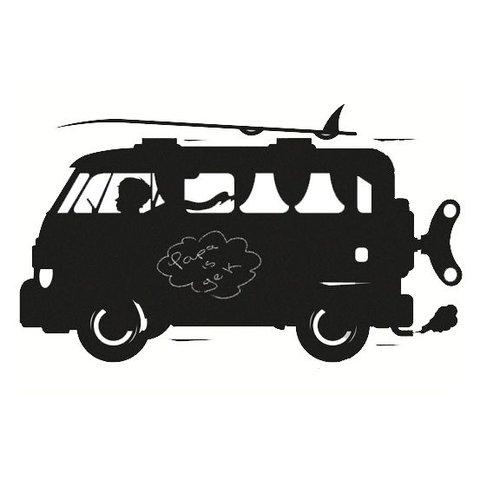 Kek Amsterdam muursticker krijtbord auto surf van