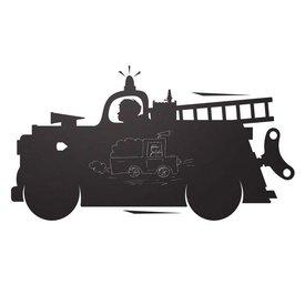 KEK Amsterdam Kek Amsterdam muursticker krijtbord brandweerauto