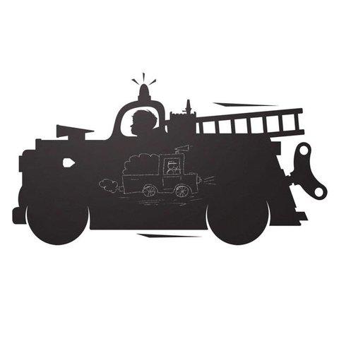 Kek Amsterdam muursticker krijtbord brandweerauto