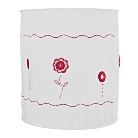 Taftan kinderlamp gehaakte bloemen roze