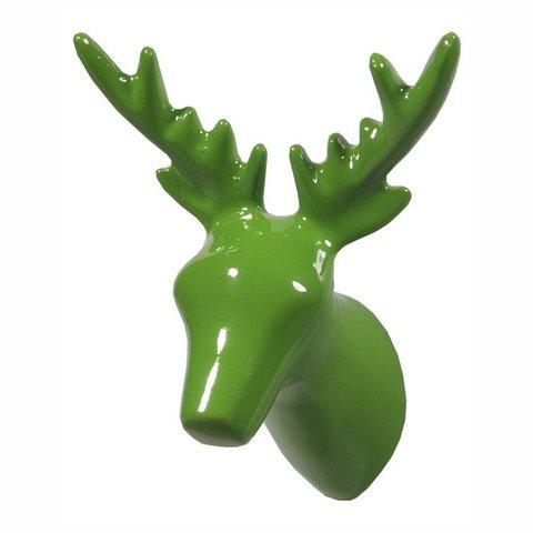 The Zoo kapstokhaakje hert groen